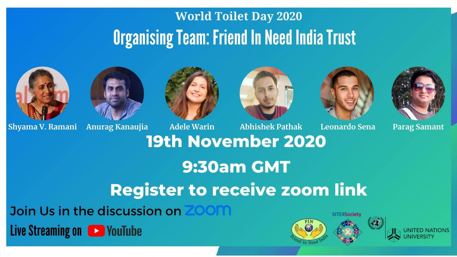 World Toilet Day 2020 Program Posters