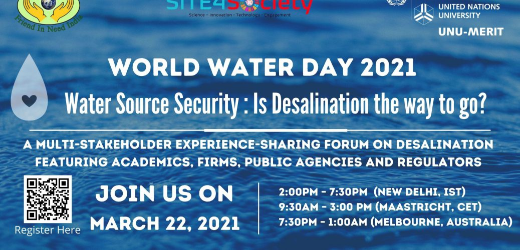 World Water Day 2021: Water Source Security & Desalination
